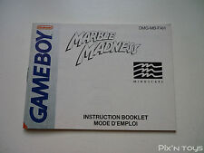 ►►►► NINTENDO GAME BOY / Notice, Instructions Marble Madness [ DMG-MB-FAH ]