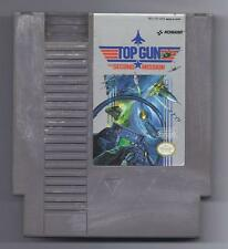 Vintage Nintendo  Top Gun The Second Mission Video Game NES Cartridge VHTF