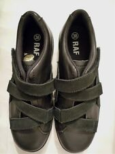 RAF BY RAF SIMONS BLACK SUEDE and LEATHER STRAPPED SNEAKERS EU 38 UK 5
