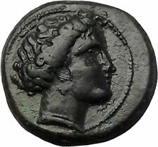 Larissa in Thessaly 360BC Authentic Ancient Greek Coin Nymph Horse i55477
