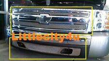 FOR 2007-2013 Chevy Silverado 1500 Stainless Wire Mesh Grille inserts combo