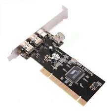 Firewire PCI Card 4 Port 1394 IEEE ILink DV Camcorder Cam Controller Fire Wire
