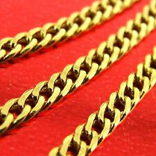 AN450 GENUINE REAL 18CT YELLOW G/F GOLD SOLID LADIES FINE PENDANT NECKLACE CHAIN