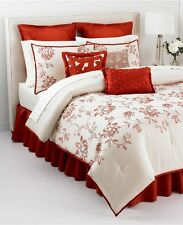 NEW Martha Stewart Flowering Lotus 9 Piece CAL KING Comforter Set MSRP $400 Y227