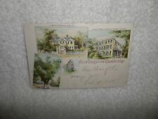 1905 Pioneer POSTCARD MULTI VIEW Cambridge MAss Longfellow Lowell Washington Elm