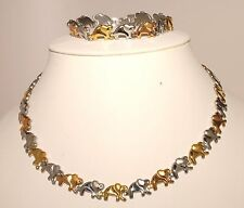 Stainless Steel Ladies Necklace & Bracelet Multi Color Elephant Set Fashion/Hot