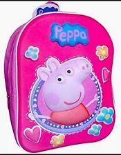 OFFICIAL PEPPA PIG EVA 3D Effect Girls Backpack / Bag School / Nursery Satchel