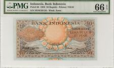 P-68 1959 50 Rupiah, Bank of Indonesia, PMG 66EPQ
