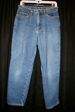 L.L. Bean Lined Jeans Pants Blue Double L Relaxed Fit Size 12 Regular Outdoors