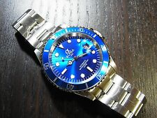 ALPHA WATCH IRON BLUE DIAL SUBMARINER MIYOTA JAPAN MOVEMENT *Ebay Lowest Price*