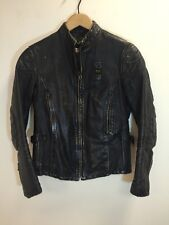 Blauer Vintage Moto Punk Leather Jacket USA Made In Italy