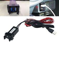 Coche 12V A 5V 2.1A USB Puertos Tablero Audio Entrada Cargador Apto TOYOTA Tide