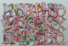 """Reminisce -BUBBLY PiNK FiSH- Scrapbook Chipboard Letters Alphabet 1.5"""""""