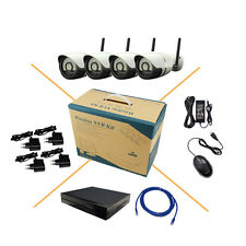 4CH 720P HD Wireless IP Camera System 8CH NVR CCTV Outdoor Security Night Vision