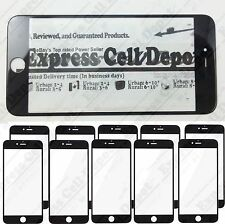 10X lot quality Black iPhone 6/6S Plus replacement lcd front outer screen glass