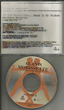 ALANIS MORISSETTE Hand in My pocket w/ RARE CLEAN TRK PROMO DJ CD single 1995