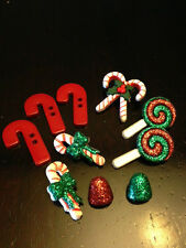 """Dress it Up """"Candy Striped Christmas"""" Buttons Christmas"""