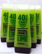 6 x Original Source Lime Shower Gel 250ml Naturally Intense *Six Pack* NEW