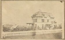 OUTDOOR VIEW OF LARGE HOUSE, NEWPORT, R.I. CDV