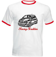 FIAT ABARTH 2015 INSPIRED RACING  P - NEW COTTON TSHIRT - ALL SIZES IN STOCK