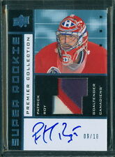 2014 15 UPPER DECK PREMIER SUPER ROOKIE SRV-PR PATRICK ROY PATCH AUTO 09/10