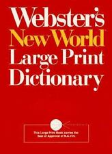Webster's New World Large Print Dictionary: Compact School & Office Edition (Com