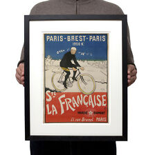 1901 Paris Brest Winner Maurice Garin Velo Reproduction Poster Print Wall Art