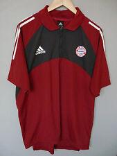 Vintage Bayern Munich Adidas Zip Polo Shirt Trikot Sz XL 46-48