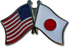 USA - JAPAN FRIENDSHIP CROSSED FLAGS LAPEL PIN - NEW - COUNTRY PIN