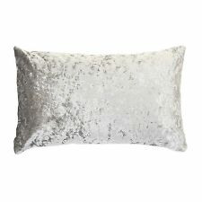 """Rectangle Scatter Crushed Velvet Cushion ICE SILVER / GREY COVER ONLY 11"""" x 21"""""""