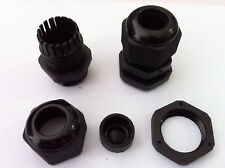 10pcs PG21 Waterproof Connector Gland Dia. 13-18mm Cable Black