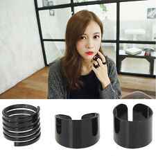 Fashion Ring Set Black Stack Plain Above Knuckle Ring Band Midi Rings Jewelry