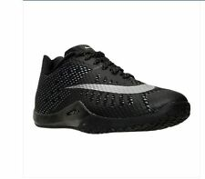 Nike Hyperlive Black/Metallic Silver Basketball Shoes 819663 001 Mens Size 9