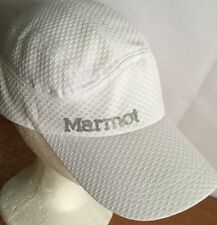 MARMOT Hat Cap One Size Adjustable Poly Sports White Soft Sports