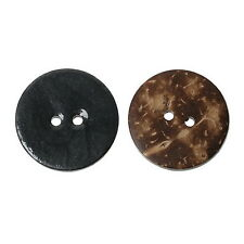 10PCs Enamel Dark Grey Coconut Shell Buttons Fit Sewing and Scrapbook 25mm