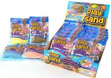 6 PACKS PLAY SAND SQUEEZABLE 100G INDOOR OUTDOOR FUN NO MESS ALL SIX COLOUR KIDS