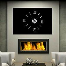 Decor Wall Sticker Clock Roma Decal Decoration Mirror Mural Vinyl Art