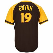Tony Gwynn San Diego Padres Cooperstown Cool Base Brown Jersey XL