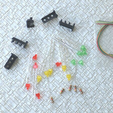 20 sets 2mm Target Faces + Accessories Railway Dwarf signal OO HO Scale 3 Aspect