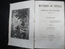 """Livre ancien """"Les Mystères du Peuple"""" - T3-T4 -Eugène Sue"""