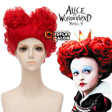 New Alice in Wonderland 2 The Queen Of Hearts Hot Curly Anime Cosplay Wigs+Cap