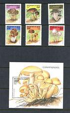 Benin  1998 #1055-61  mushrooms   set & sheet    MNH  H087