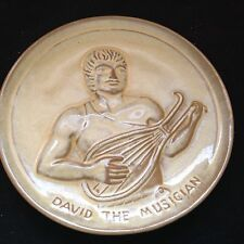 Frankoma Plate #2 Teenagers of the Bible David The Musician Desert Gold 1974