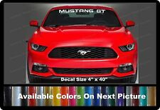 "Mustang GT Front Windshield Banner Decal Fits Ford Mustang 4"" x 40"""