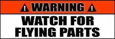 Warning: Watch For Flying Parts Off-Roading 4x4 or junker car Decal (2 PACK) 42