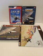 LOCK ON AIR COMBAT SIMULATOR FLAMING CLIFFS 2 PC DVD manuals lot