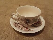"""1 VINTAGE 'THE OLD MILL"""" by JOHNSON BROS - ENGLAND TEA / COFFEE CUP & SAUCER"""