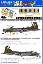 Kits World Decals 1/32 BOEING B-17F FLYING FORTRESS Knock Out Dropper