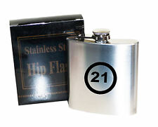 21st  Birthday speed limit   6 oz Stainless Steel Hip Flask - Laser Engraved