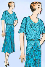 1930s VTG Ladies Home Journal Sewing Pattern 6638 Uncut Afternoon Dress Sz 36 B